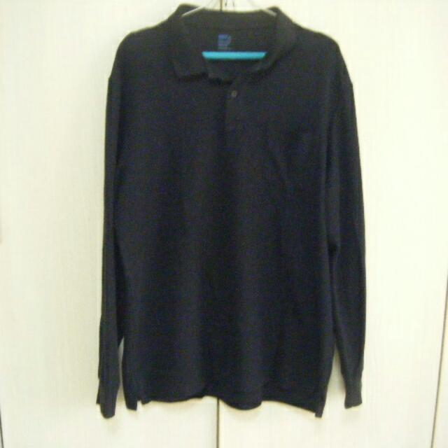 Net 黑色針織 Polo 上衣 XXL