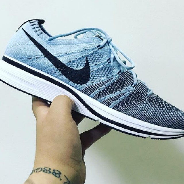 new products 18334 83c93 Nike Flyknit Trainer US10 - Skyblue, Men s Fashion, Footwear on ...