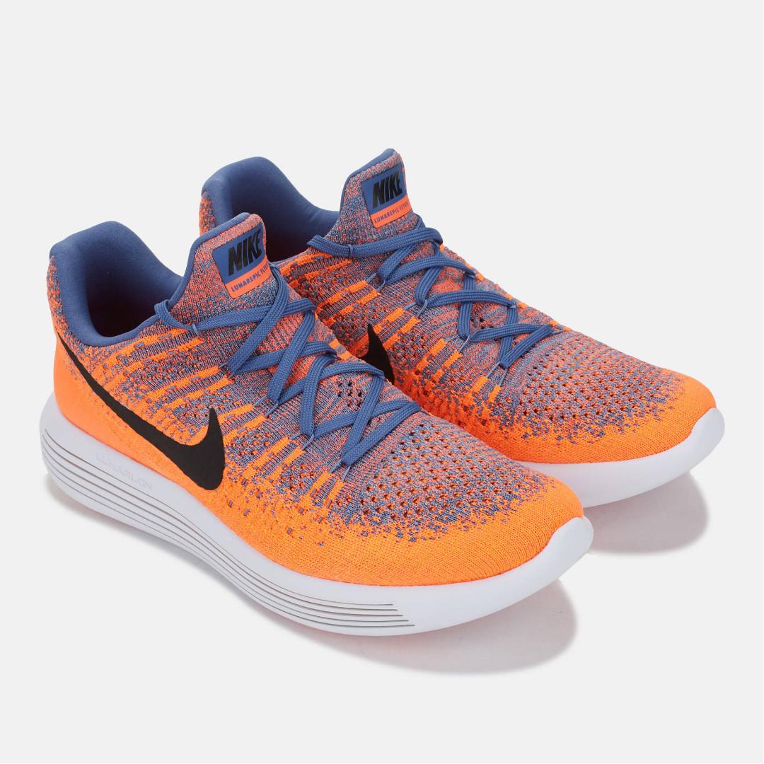 ec63b9d74915 Nike LunarEpic Low Flyknit 2 Paramount Blue Black Max Orange