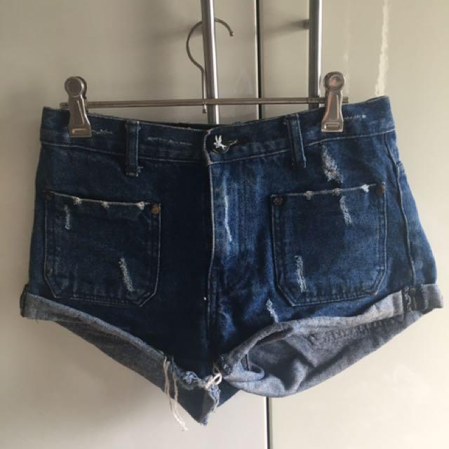 9cbae401ca One Teaspoon Blue Denim Shorts, Women's Fashion, Clothes on Carousell