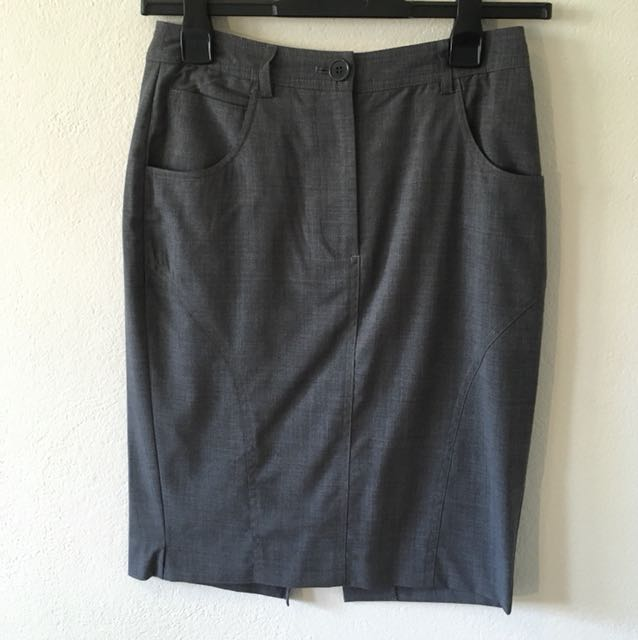 OXFORD work Skirt Grey