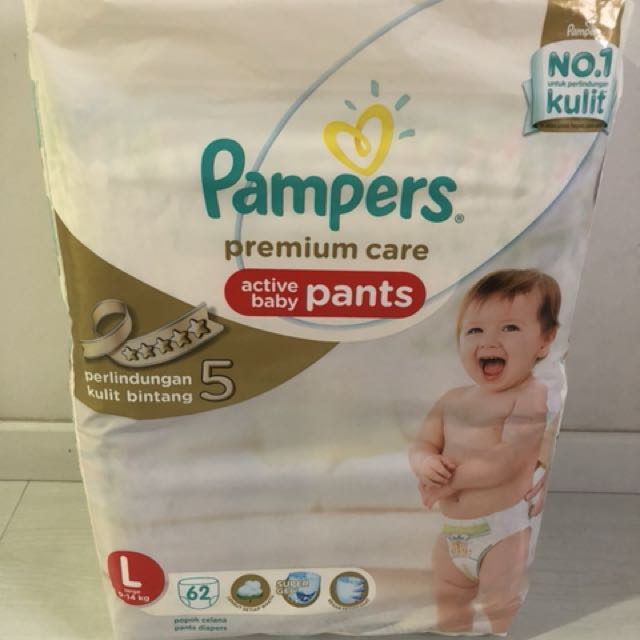 a1cc1b74083f Pampers Premium Care L 62pcs on Carousell
