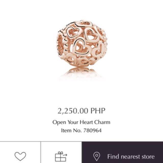 Pandora Charm Heart RoseGold #1