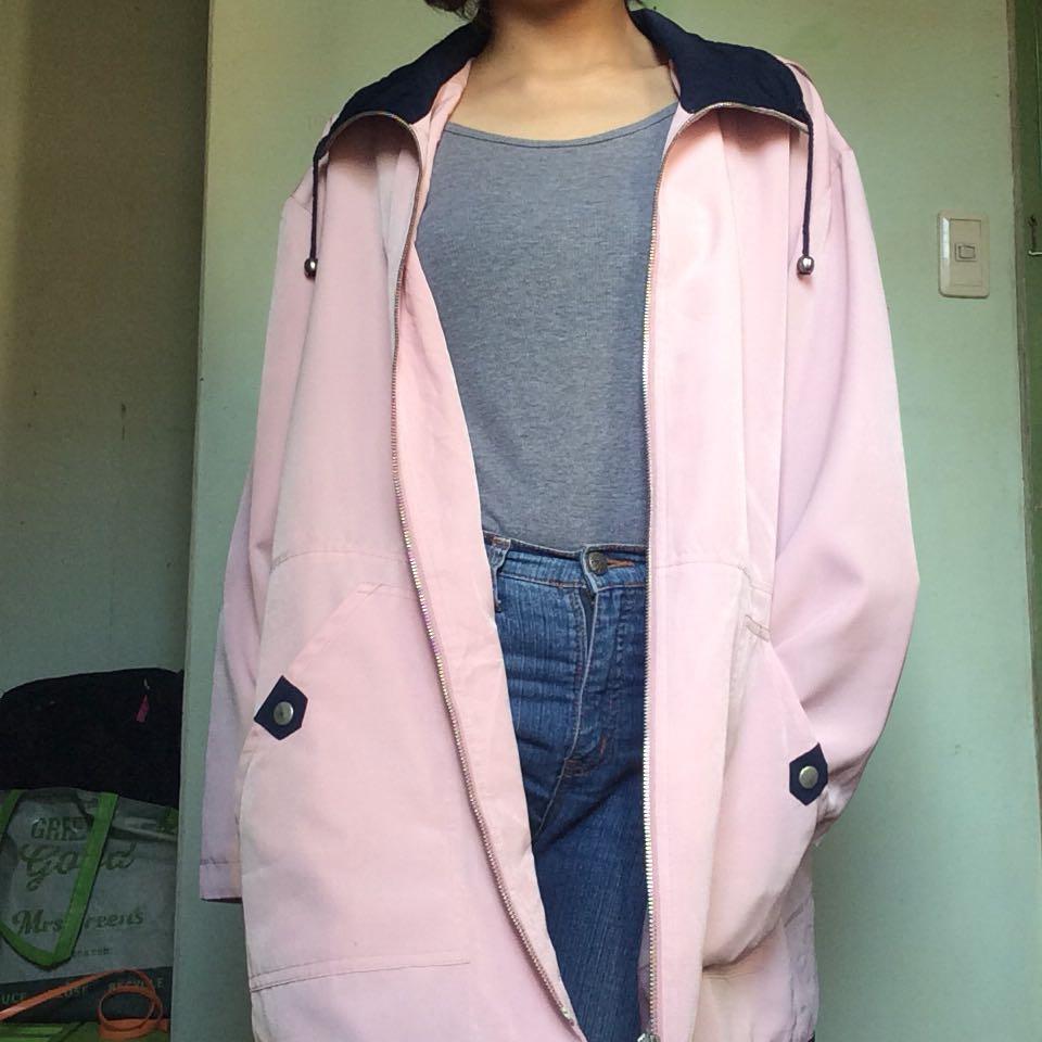 Pink & Blue Parka Jacket