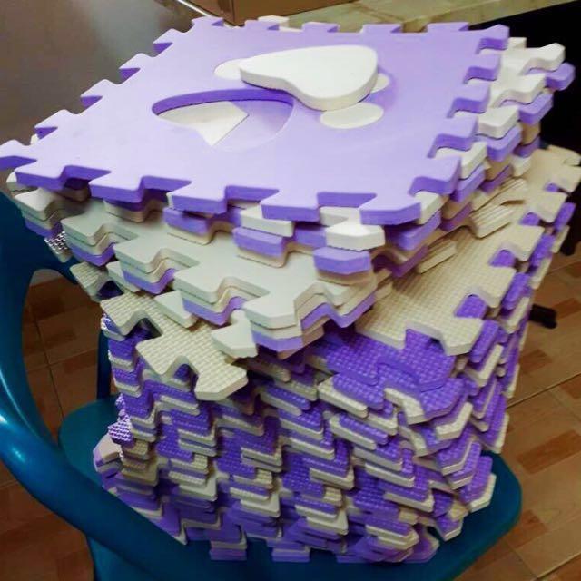 (PL) Purple Cream Puzzle Mat