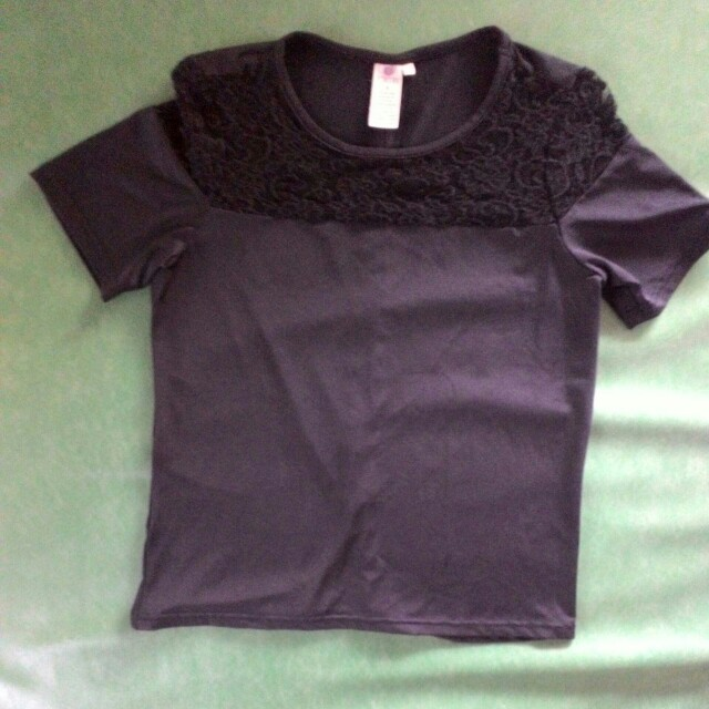 Poetry black spandex blouse
