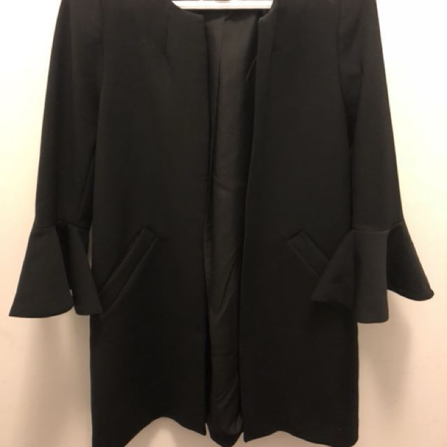 PRICE DROP: H & M Brand new never worn black bell-sleeved dress