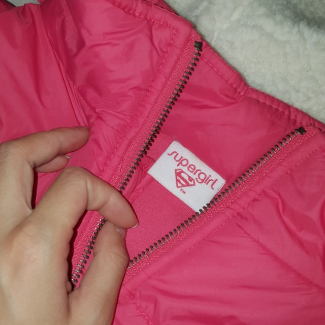 Puffy Pink Vest Hooded