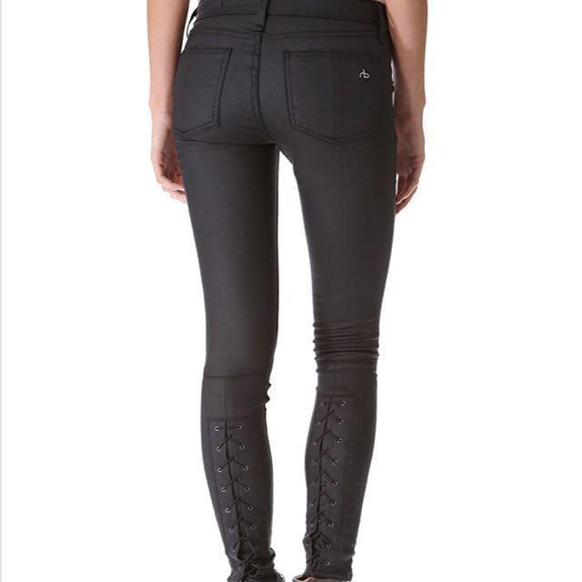 Rag & bone Devi lace-up jeans