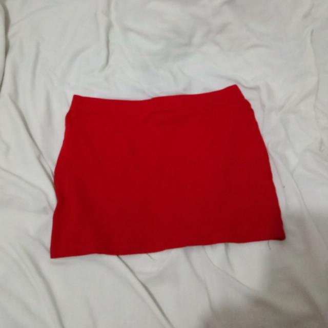 Red Body Con Mini