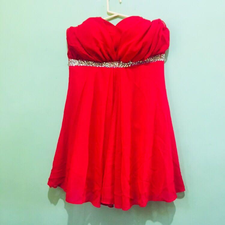 Red Cocktail Semi Formal Dress