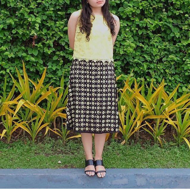 River Island Floral Midi Skirt