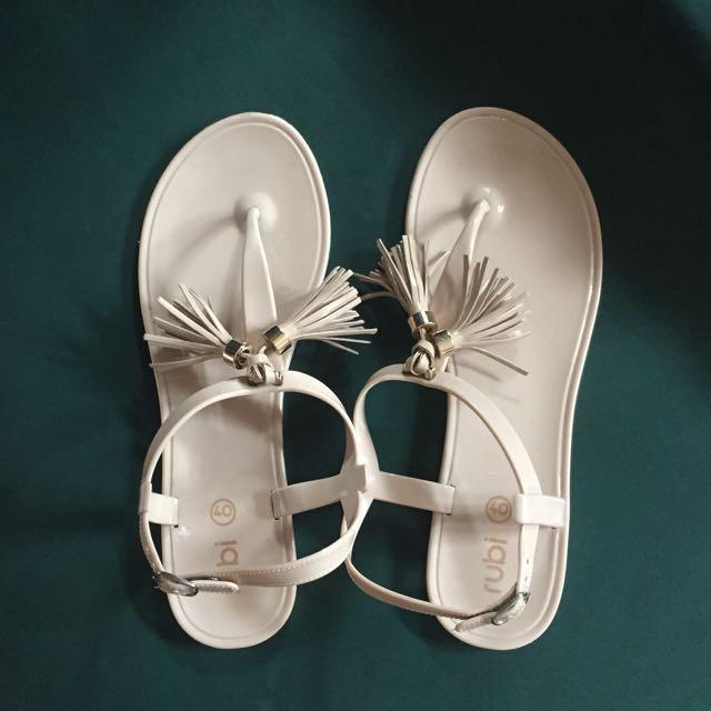 Rubi - Nude Tassel Sandal