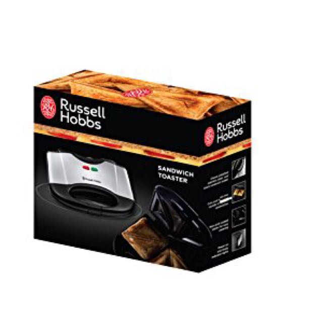 Russell Hobbs 17936 Two Portion Sandwich Toaster - Stainless Steel Sandwich  press breakfast Kitchen appliance household appliance, Home Appliances on  Carousell