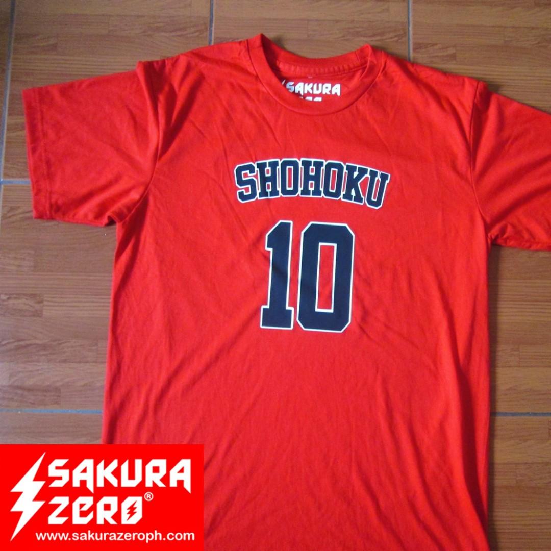 04b8b1fe5cd slam dunk shohoku 10 anime t shirt, Men's Fashion, Clothes, Tops on ...