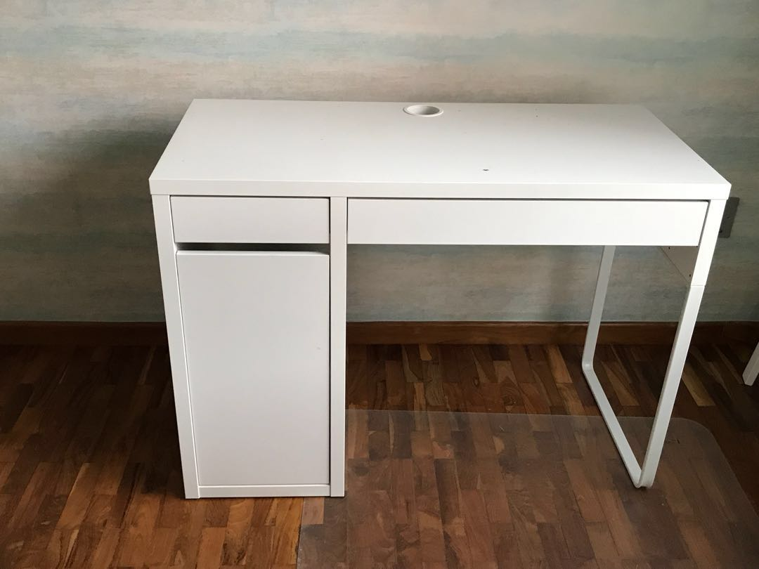 hot sales c961b e11d1 Study Table, IKEA- Micky, White, Furniture, Tables & Chairs ...