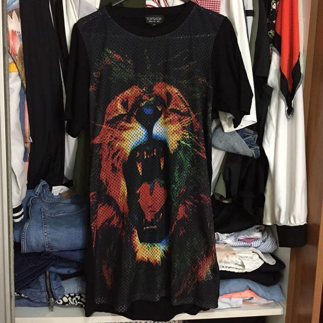 Topshop Tiger Shirt