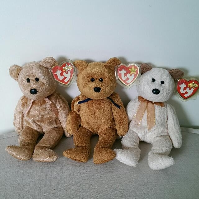 dca069248a5 TY Beanie Babies Collection Bears Soft Toys
