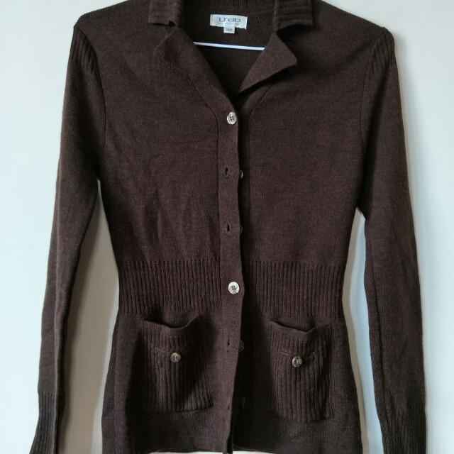 全新udb 羊毛,merino wool 小外套,31肩寬37胸寬58衣長