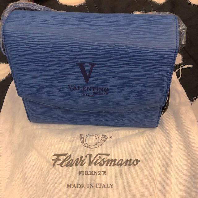 VALENTINO 手拿包 方包 肩背包 側背包中款寶藍色