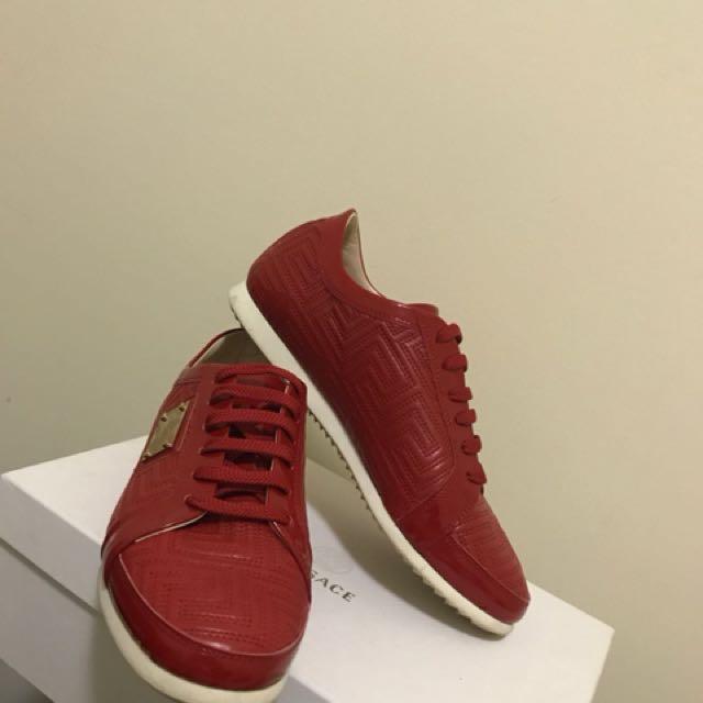 Versace sneakers.