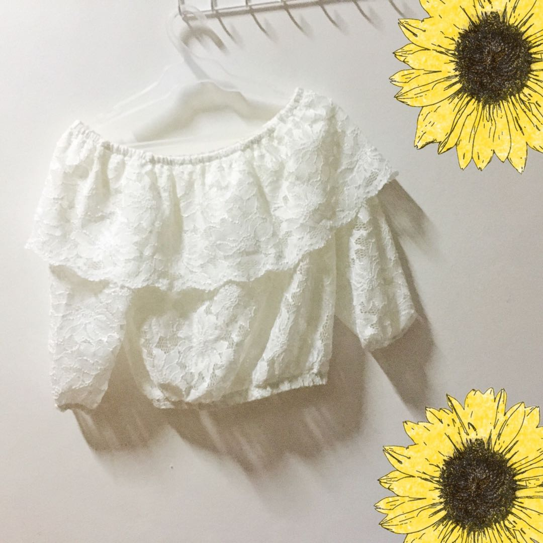 White lace off-shoulder