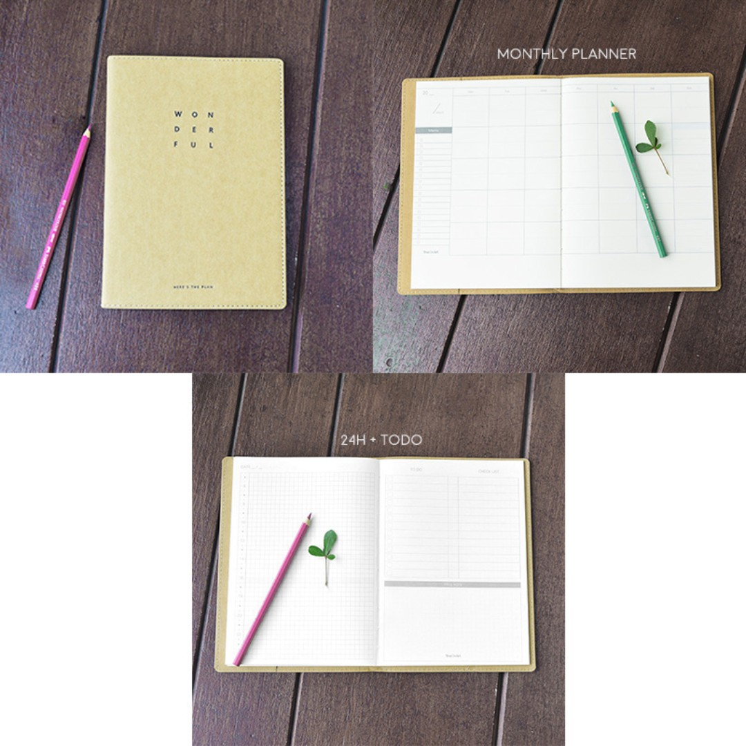 Wonderful Diary Monthly Planner A5