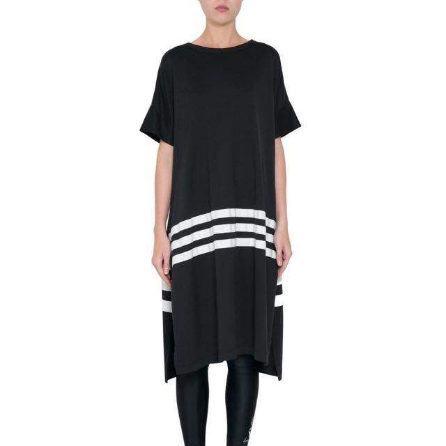 Y-3 oversized 黑色條紋短袖上衣