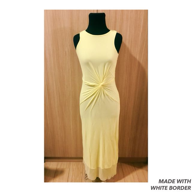 Yellow Long Gown - Form-flattering