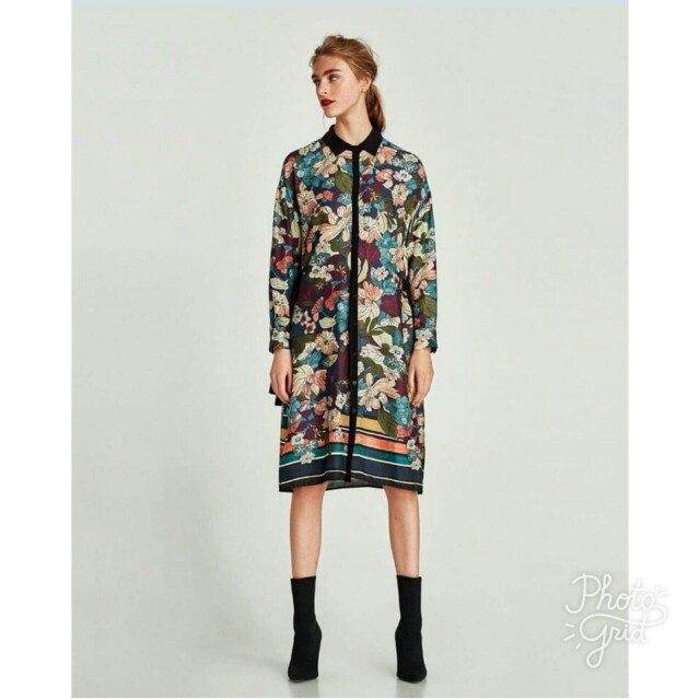 Zara inspired Black Floral Dress