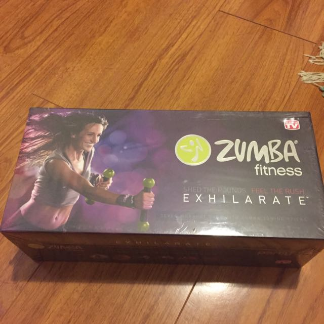 ZUMBA FITNESS PACK With Weights and DVDS
