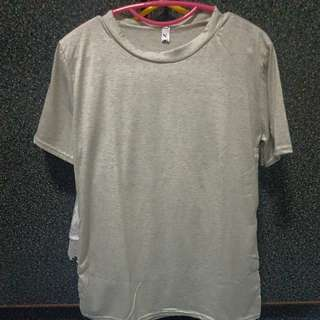 Grey Top With Side Slit