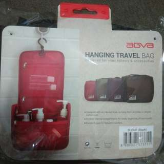 Brand new AGVA hanging travel bag, black in color