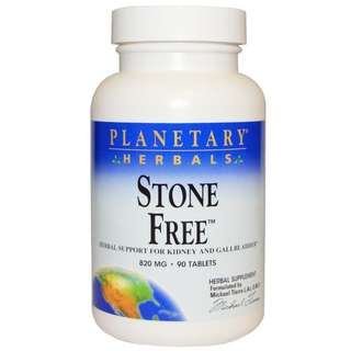 Planetary Herbals, Stone Free, 820 mg, 90 Tablets
