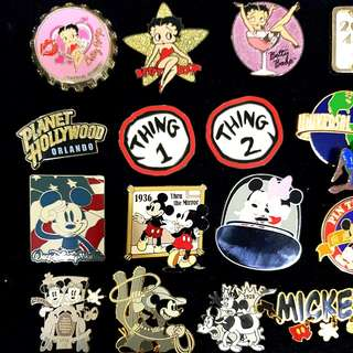 USS/ Vintage Mickey/Betty Boop Trading Pins