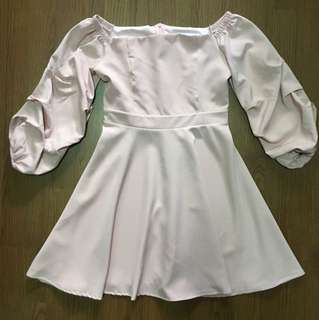 Pink Off Shoulder Dress