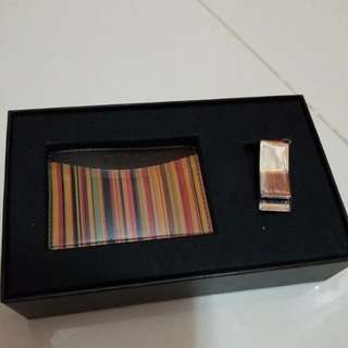 Paul Smith 卡片套及錢夾 cardholder & money clip set