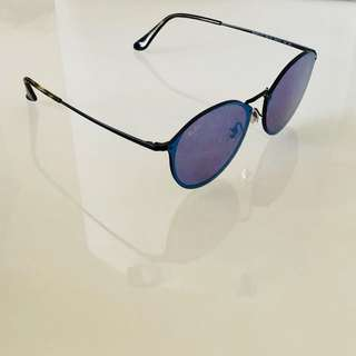 RAY-BAN BLAZE ROUND(BLUE MIRROR/VIOLET) SUNGLASSES