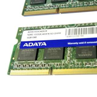 Notebook ram DDR3 4GB *2