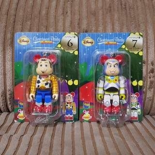 Medicom Toy Story Christmas Ornaments Bear Bricks Woody and Buzz