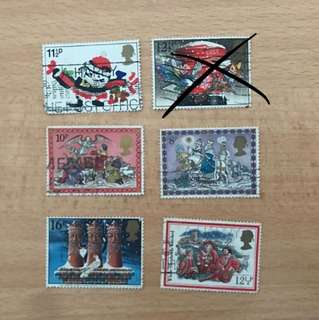 UK stamps | Christmas series