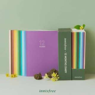 Innisfree 2018 Planner and Travel Diary