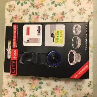 手機外置鏡頭(魚眼廣角微距3合1)