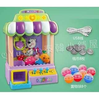 ღYutiღ現貨 USB供電 or 電池供電 趣味夾娃娃機/迷你抓物機/彩色抓娃娃機/燈光抓物機/夾物機/夾糖果機