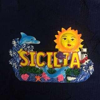 Sicilia Ref Fridge Magnet (Big)