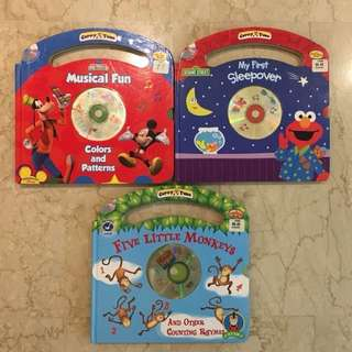 Large hard books with CD for preschoolers