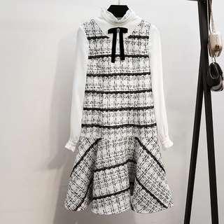 Tweed dress. Monochrome B&W. Brand new.