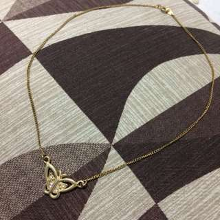 Butterfly gold necklace