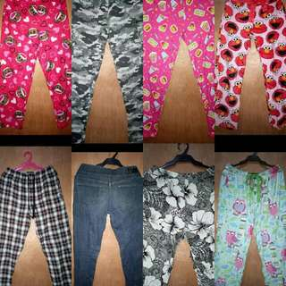 GARTERIZED ASSORTED PANTS MIXED FOR MEN&WOMEN