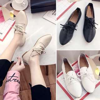 (36~40) Korean casual shoes, casual tide shoes British wind rough with lace retro small shoes